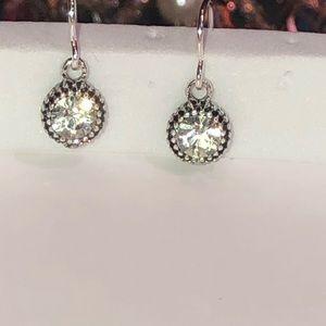 Starlight crystal silver dangle earrings NWT